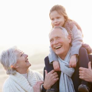 generational family, grandfather, grandmother, granddaughter