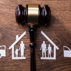 Divorce, court, separation of households